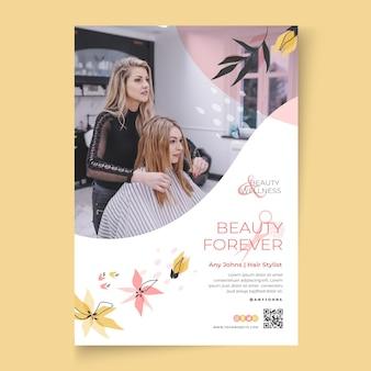 Plantilla de cartel de salón de belleza