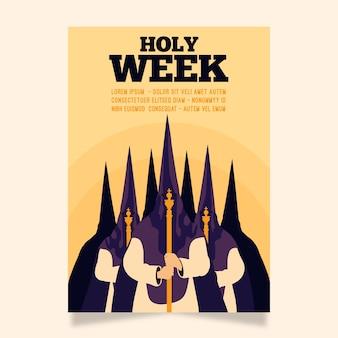 Plantilla de cartel de semana santa