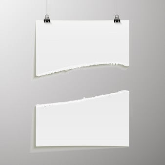 Plantilla de cartel vacía. un cartel, una hoja de papel colgada en la pared. diseño de banner publicitario del stand de exposición, página en blanco de las imágenes de billboard para imprimir
