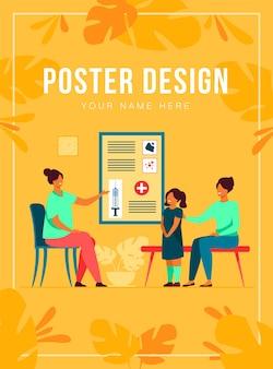 Plantilla de cartel de vacunación infantil