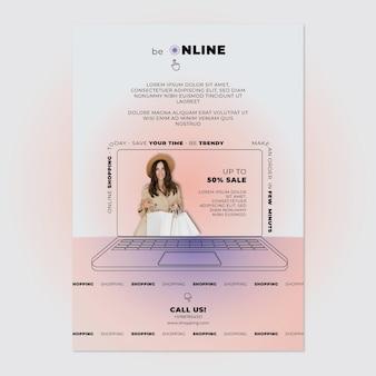 Plantilla de cartel de venta online