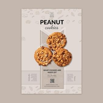 Plantilla de cartel vertical de cookies