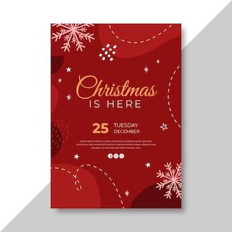 Plantilla de cartel vertical para navidad