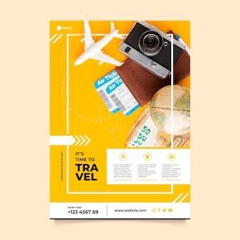 Plantilla de cartel de viaje con foto