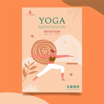 Plantilla de cartel de yoga