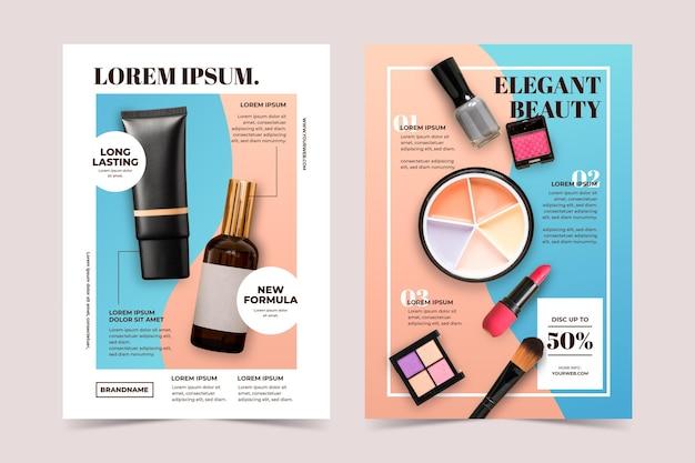 Plantilla de catálogo de productos de belleza de color degradado
