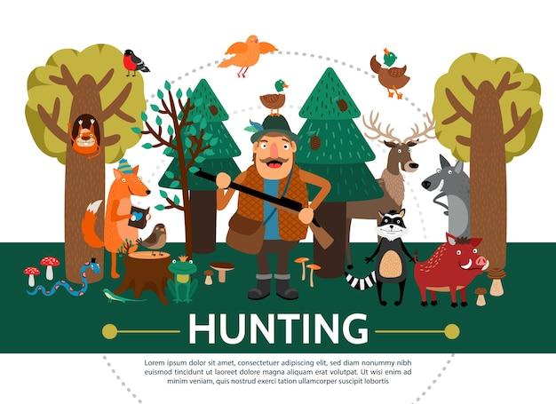 Plantilla de caza plana