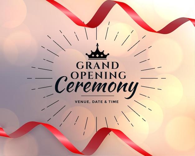 Plantilla de ceremonia de gran inauguración