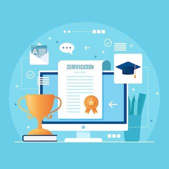 Plantilla de certificación en línea