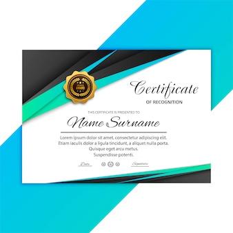 Plantilla de certificado abstracto