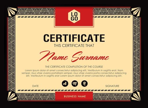 Plantilla de certificado de antecedentes