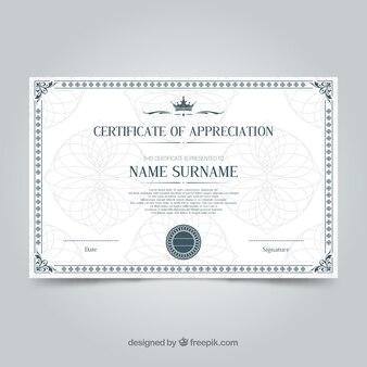Plantilla de certificado con border ornamental