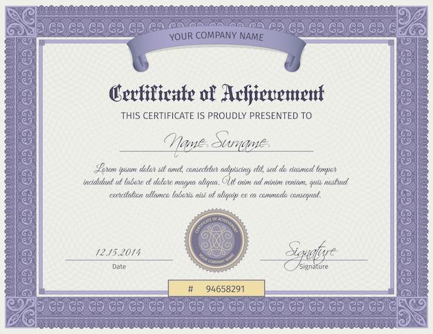 Plantilla de certificado de calificación