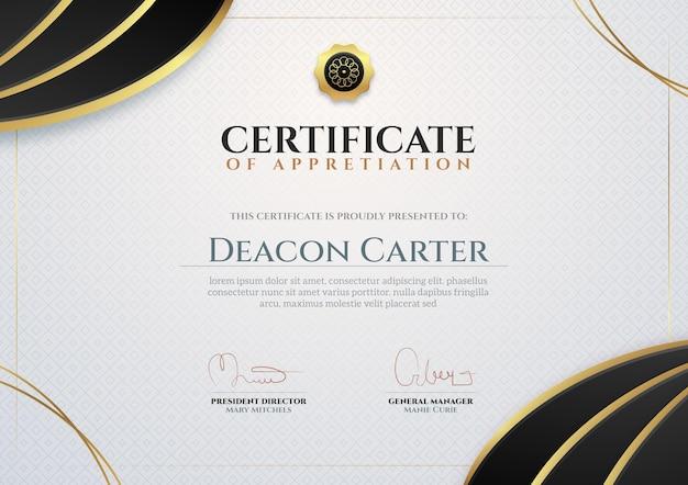 Plantilla de certificado comercial