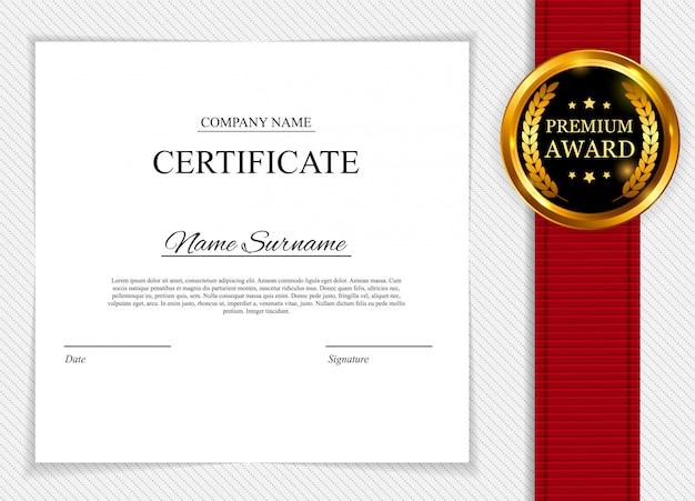 Plantilla de certificado. diploma de premio en blanco.