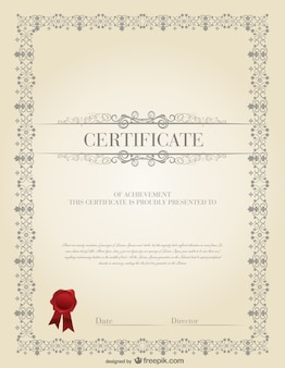 La plantilla de certificado de diseño de material de vectores