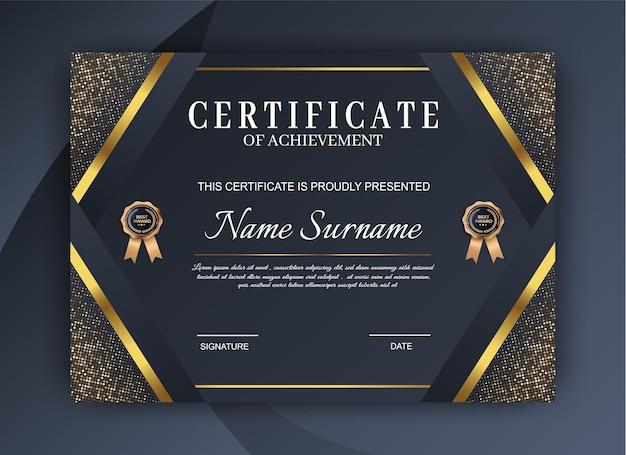 Plantilla de certificado elegante. diseño de diploma moderno