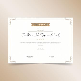 Plantilla de certificado elegante