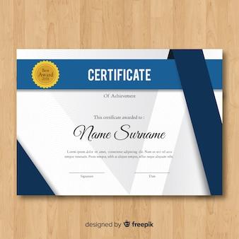 Plantilla de certificado en estilo abstracto