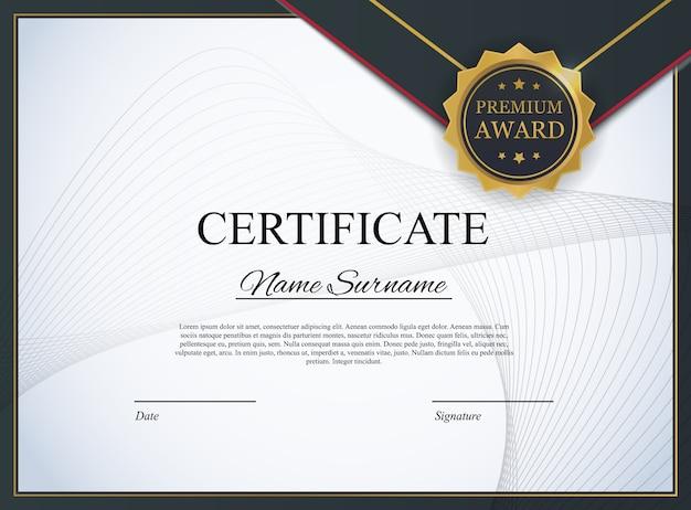 Plantilla de certificado de fondo. premio diploma de diseño en blanco. ilustración