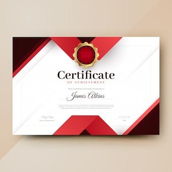 Plantilla de certificado geométrico abstracto
