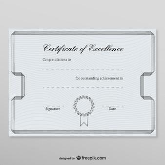 Plantilla de certificado honorífico