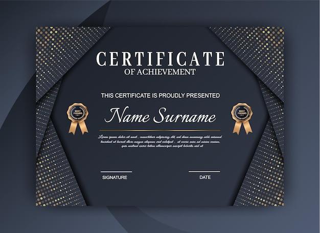 Plantilla de certificado de logro de lujo