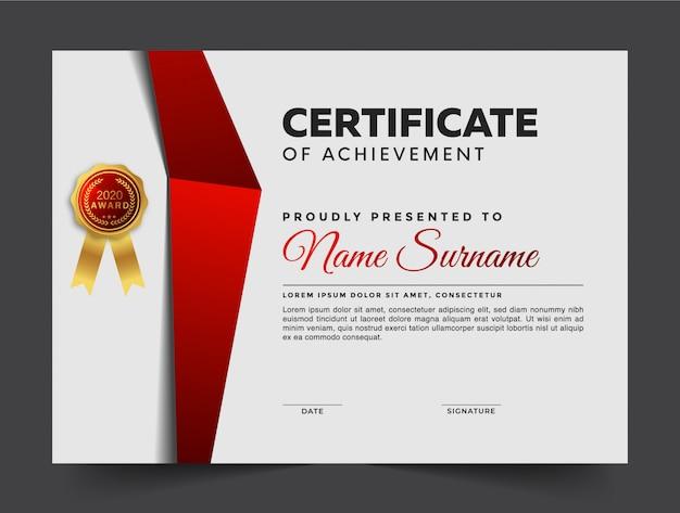 Plantilla de certificado de logro moderno geométrico
