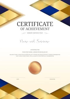 Plantilla de certificado de lujo