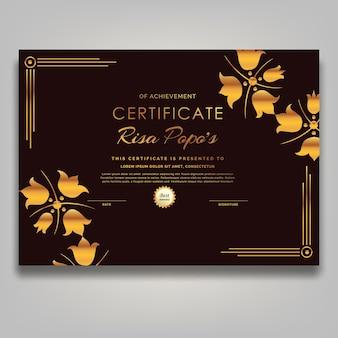Plantilla de certificado de marco de adorno moderno