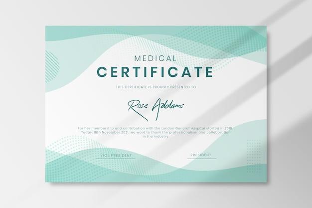 Plantilla de certificado médico