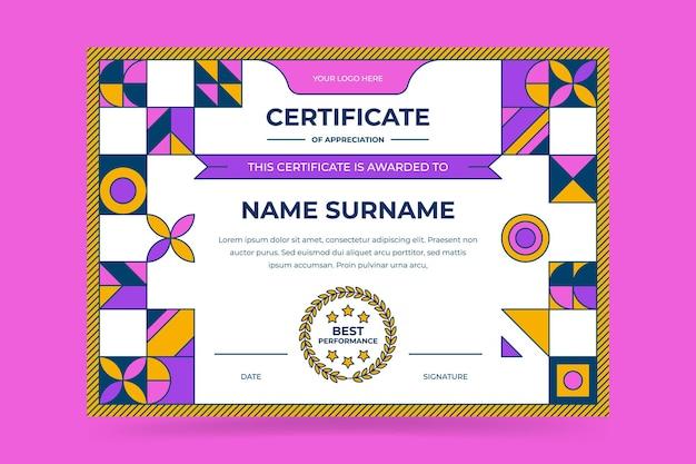 Plantilla de certificado moderno