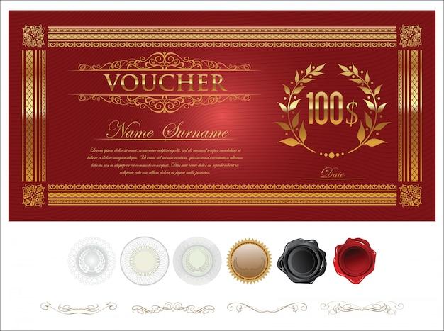 Plantilla de certificado de regalo premium de vector