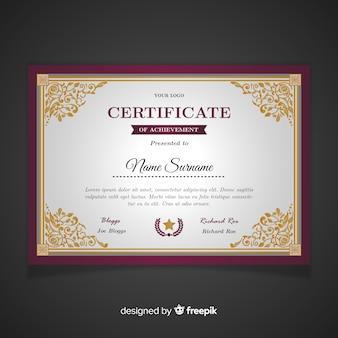 Plantilla de certificado retro