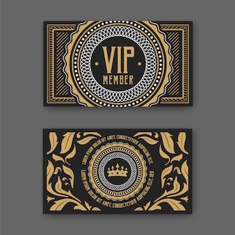 Plantilla de certificado de tarjeta de membresía vip