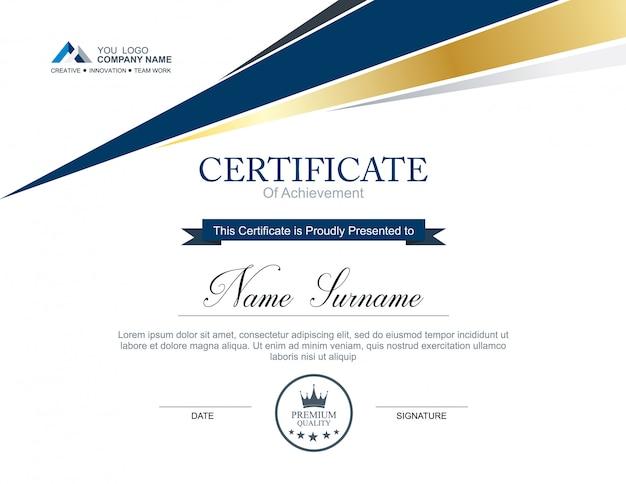 Plantilla de certificado de vector