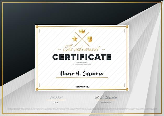 Plantilla de certificado de vectores
