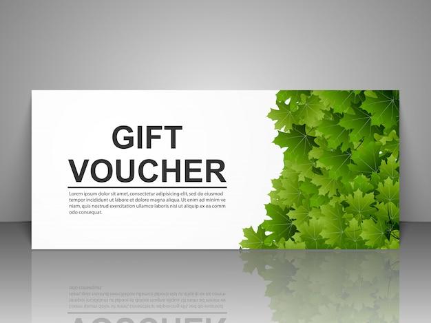Plantilla de cheque regalo.