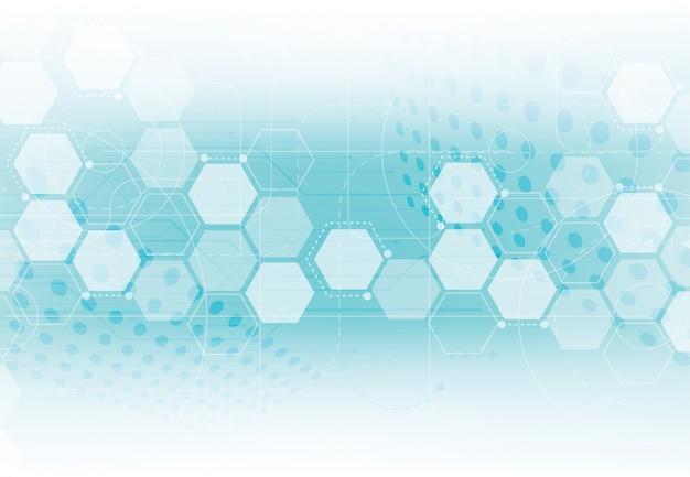 Plantilla de ciencia, fondo de pantalla o banner con moléculas de adn.