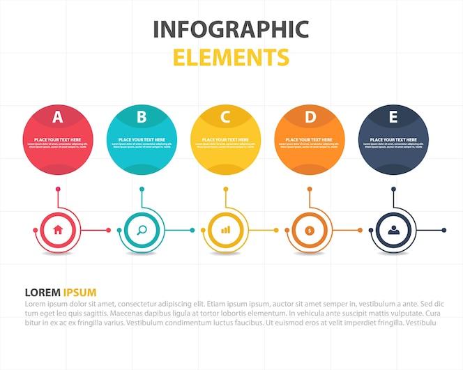 Plantilla circular moderna infográfica