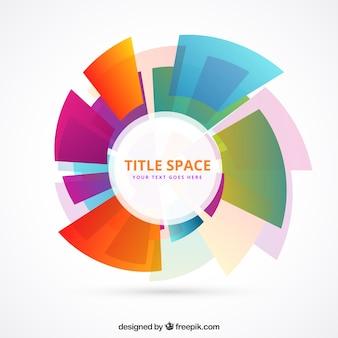 Plantilla círculo hecho de formas de colores