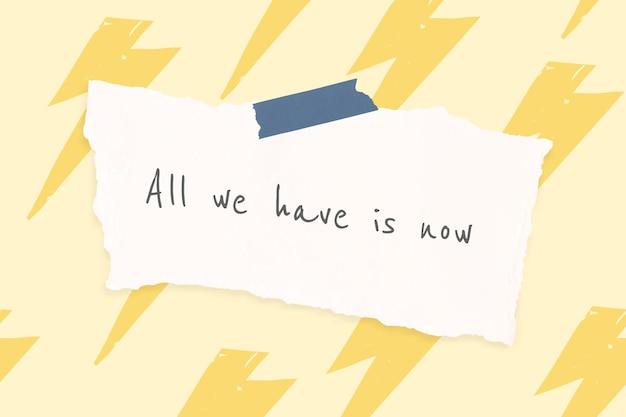 Plantilla de cita alegre con banner de dibujos de trueno lindo doodle