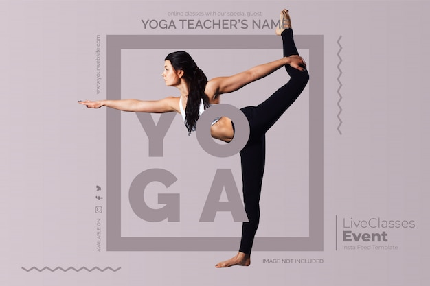 Plantilla de clases de yoga en línea