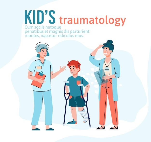 Plantilla de clínica de traumatología infantil