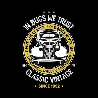 Plantilla del club de la camiseta del evento, vieja plantilla de la camiseta del vehículo de la guerra.