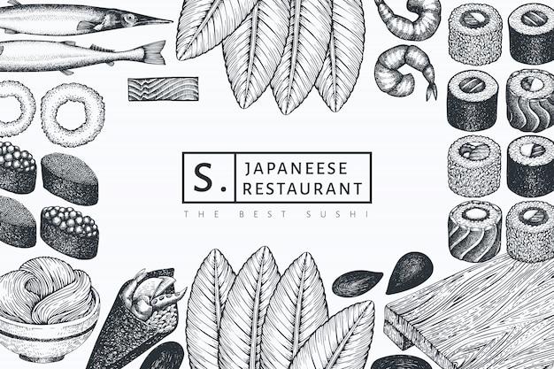 Plantilla de cocina japonesa