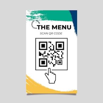 Plantilla de código qr de menú colorido