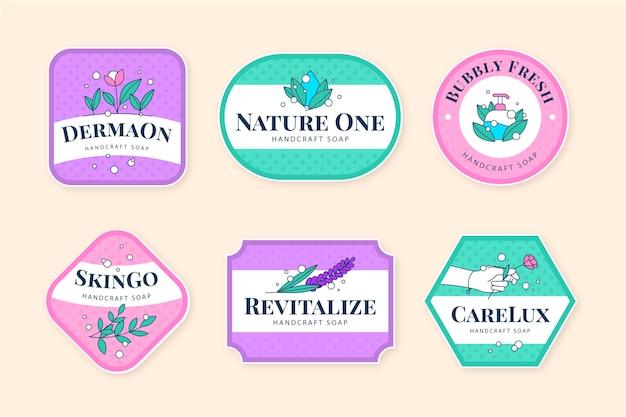 Plantilla de colección de etiquetas de jabón