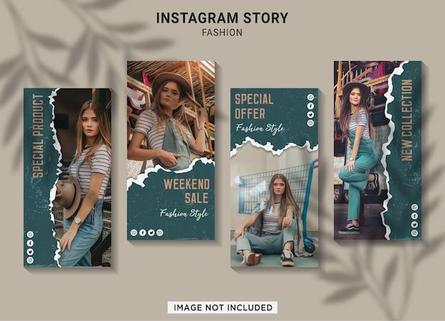Plantilla de colección de historias de instagram de rebajas de moda