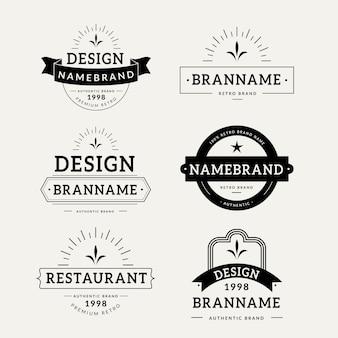 Plantilla de colección de logo retro